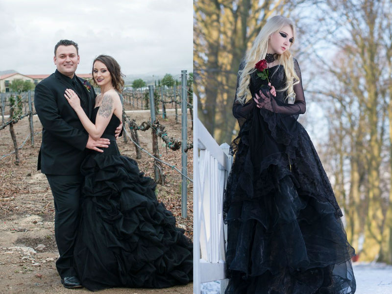 Elegant and Spooky Halloween Wedding Ideas 3