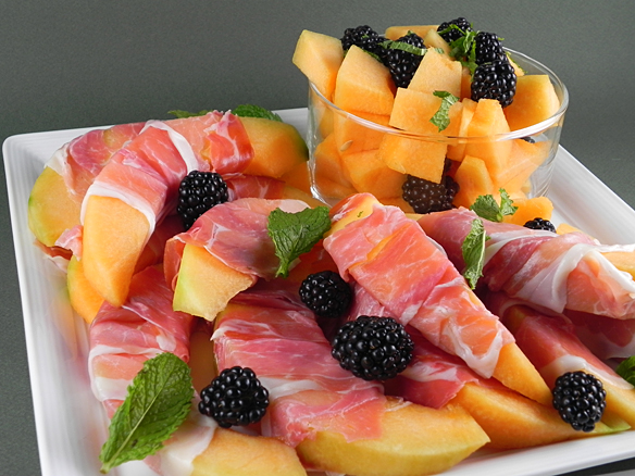 12. Prosciutto Wrapped Melon