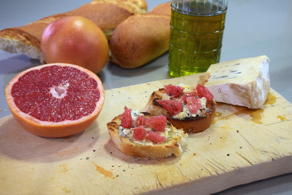 13. Blue Cheese And Grapefruit Bruschetta