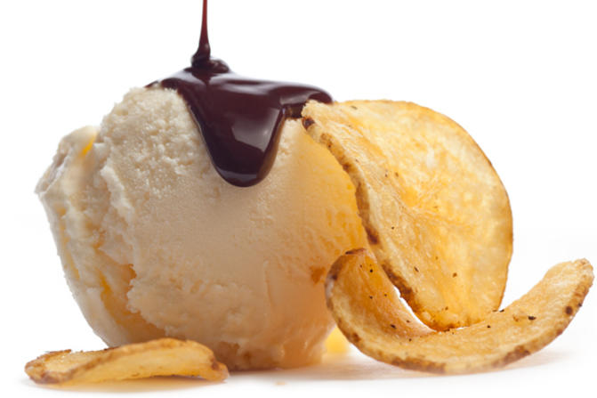 5. Ice Cream Potato Chip Sundae