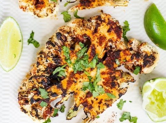 6 Chipotle Lime Grilled Cauliflower Steaks