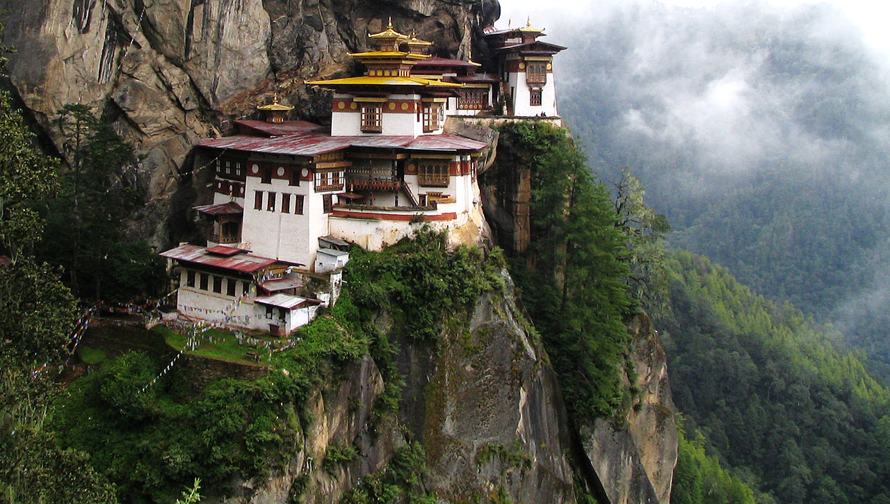 8. Tiger's Nest Monastery, Para Valley, Bhutan