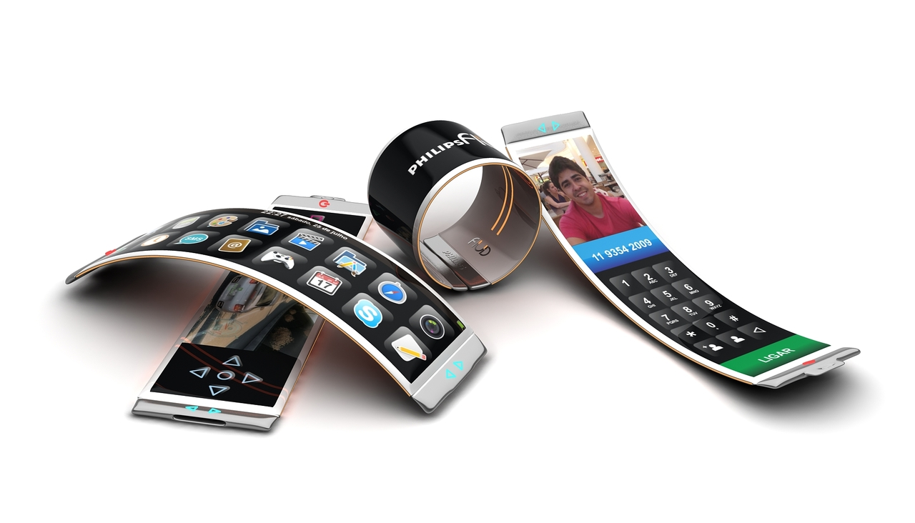 Transparent flexible phones