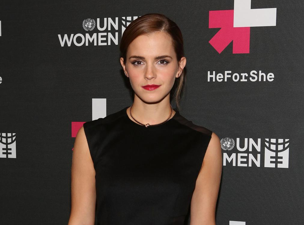 "NEW YORK, NY - SEPTEMBER 20: Actress Emma Watson attends UN Women's ""HeForShe"" VIP After Party at The Peninsula Hotel on September 20, 2014 in New York City. (Photo by Robin Marchant/Getty Images)"