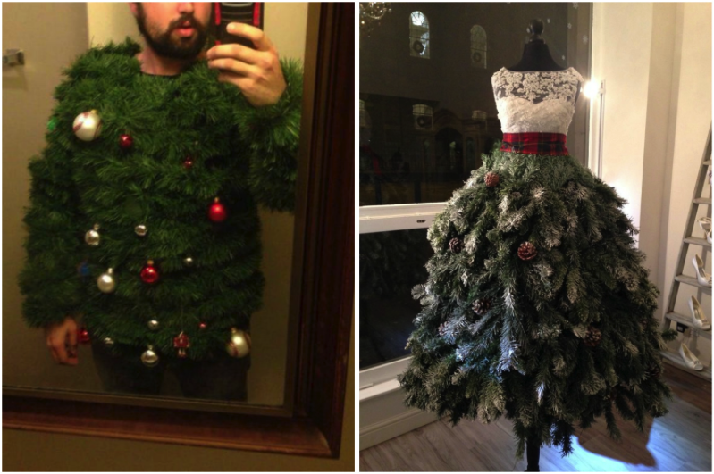 Forget Ugly Christmas Sweaters. Christmas Tree Dresses Are
