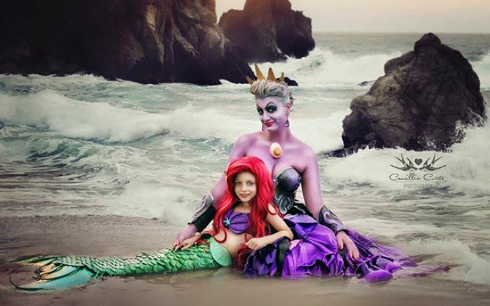Adorable_Cosplay_Duo_7-Year-Old_Daughter_And_Mom_Dress_Up_As_Disney_Characters_4