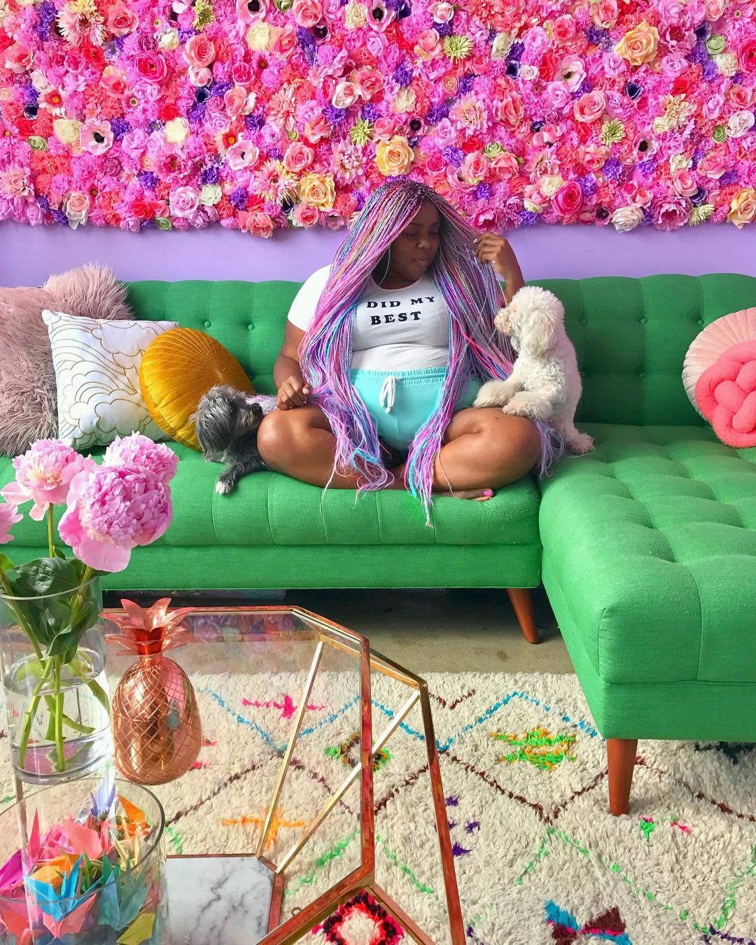 this babe's colorful lifestyle and apartment makes unicorns