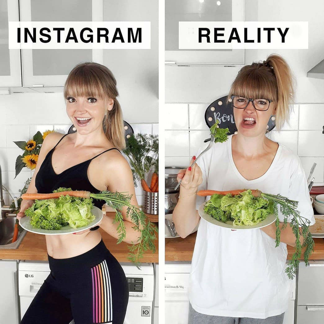 ≡ Instagram vs  Reality: Artist Exposes Perfect Instagram Pics And