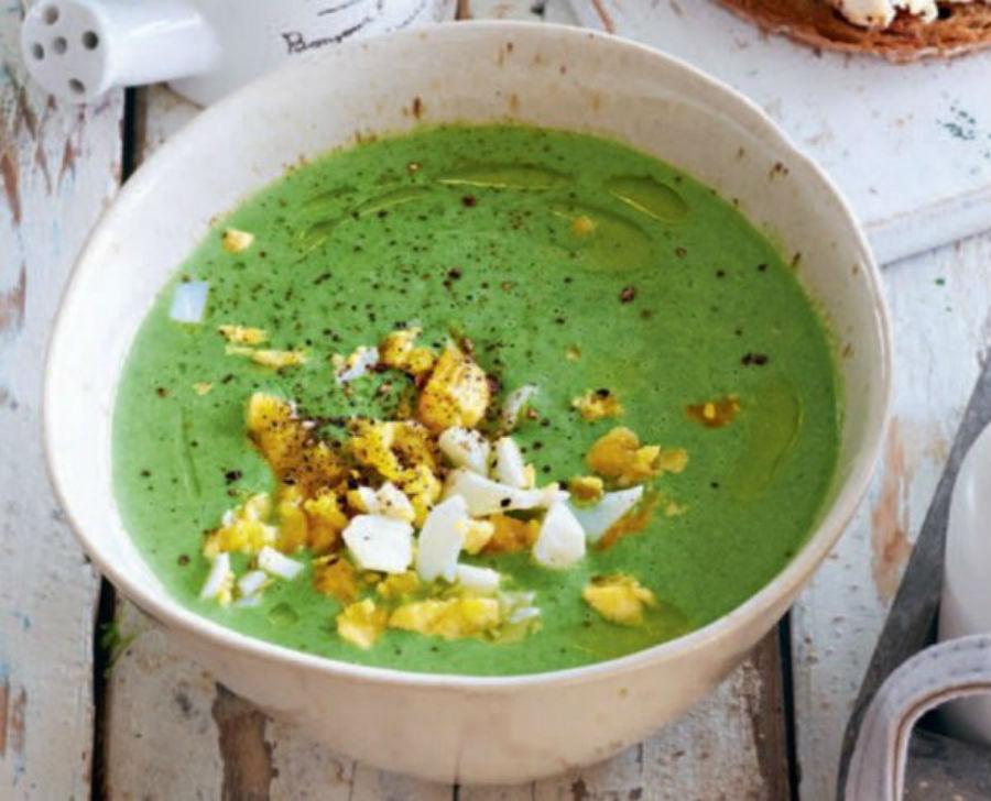 Холодный суп из черемши с яйцом  | HerBeauty