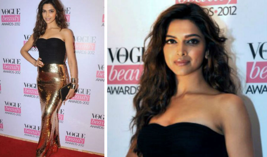 Deepika Padukone golden skirt look | HerBeauty