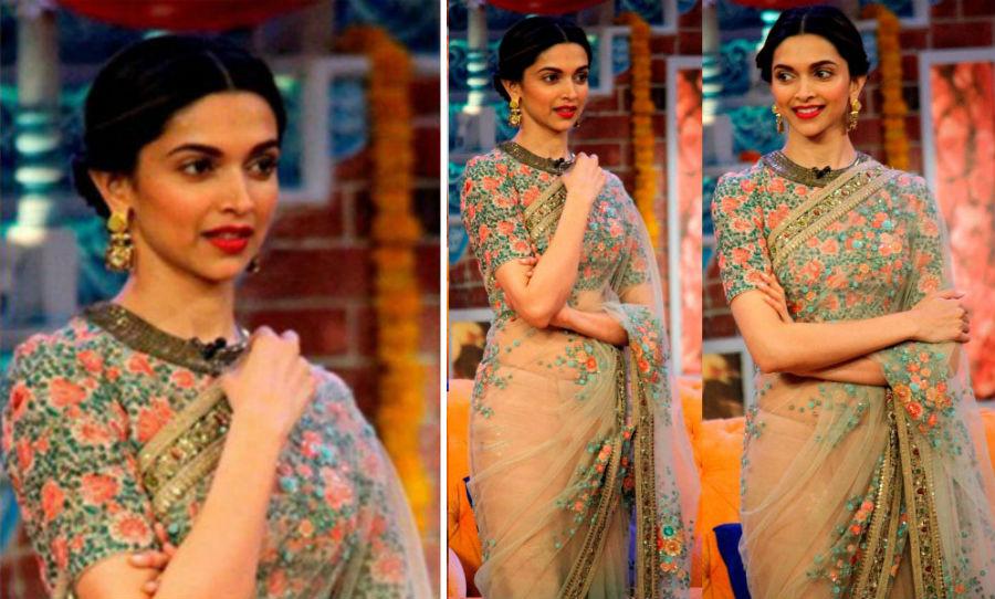 Deepika Padukone in saree | HerBeauty