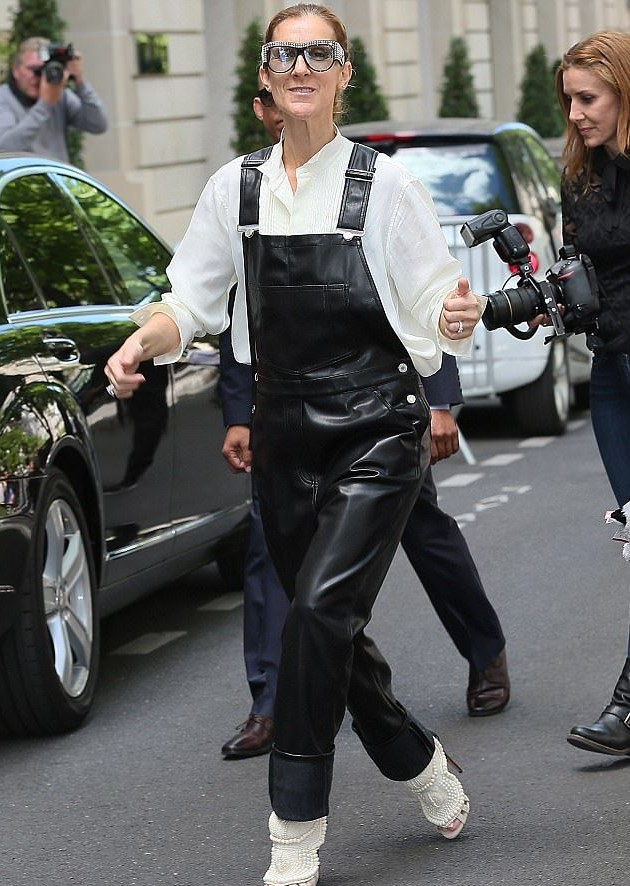 Givenchy leather overalls Celine Dion | 10 Reasons Why Celine Dion Is Our New Style Icon | Her Beauty