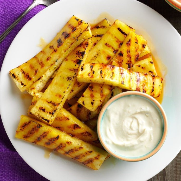 Grilled Pineapple with Lime Dip | 12 Grilling Recipes You've Gotta Try This Summer | Her Beauty