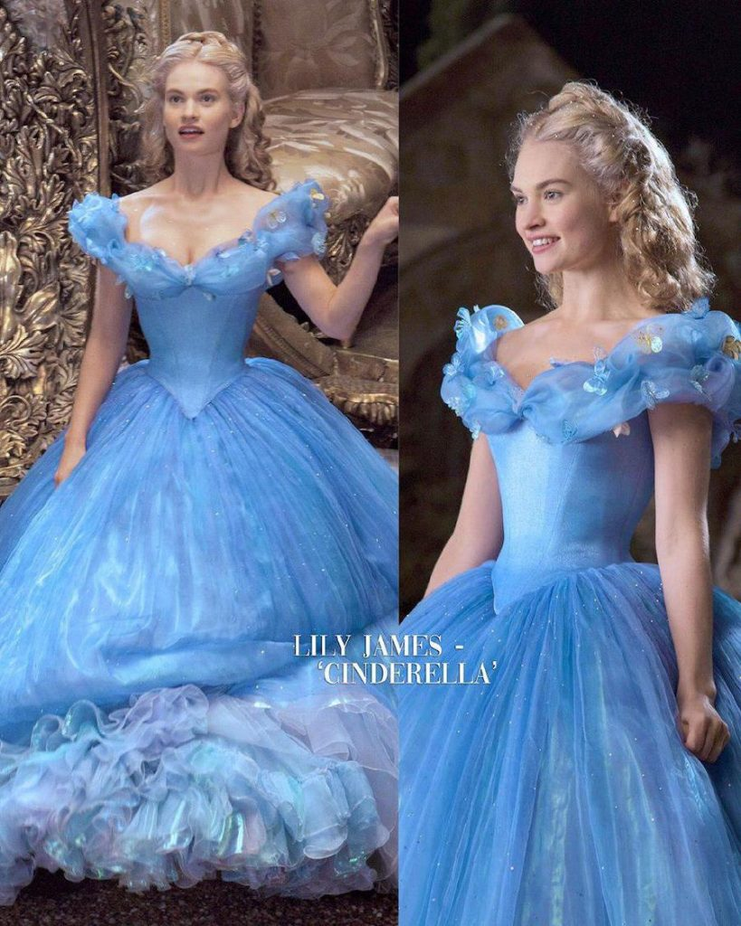 Lily James – Cinderella | 15 Iconic Movie Dresses You Wish You Could Wear | HerBeauty