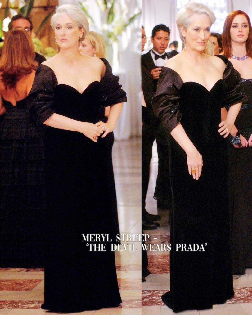 Meryl Streep – The Devil Wears Prada | 15 Iconic Movie Dresses You Wish You Could Wear | HerBeauty