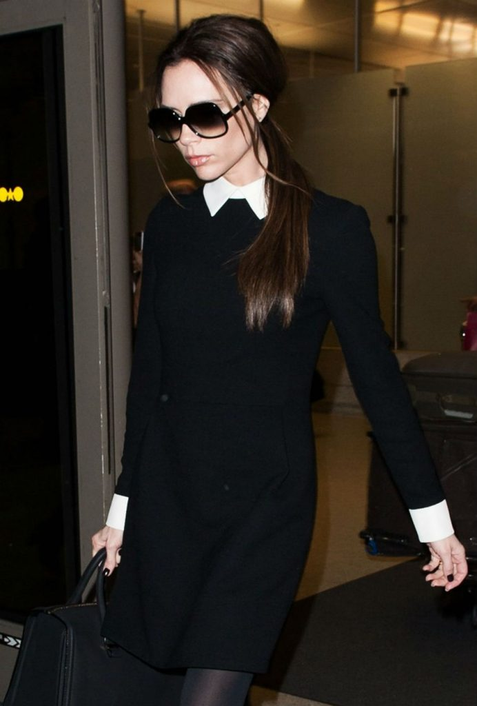 A long sleeve, collared white button down | Victoria Beckham Style | Her Beauty