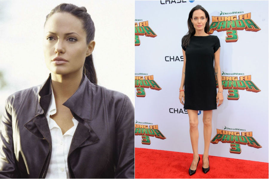 2. Angelina Jolie | 9 Celebs Who Got Super Skinny | Her Beauty