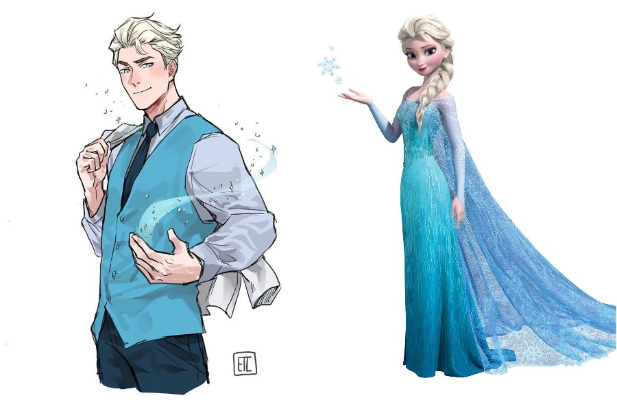 Elsa | If Disney Princesses Were Boys | Her Beauty