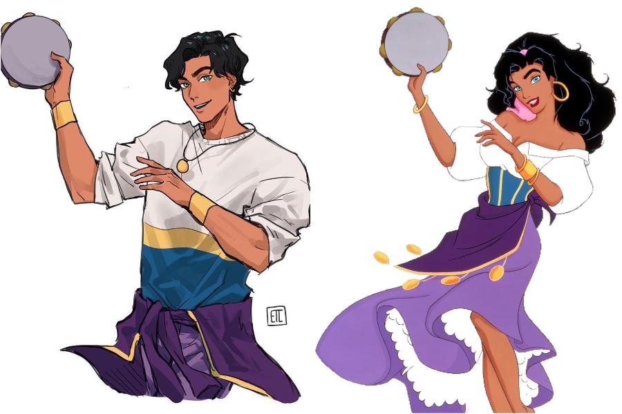 Esmeralda | If Disney Princesses Were Boys | Her Beauty