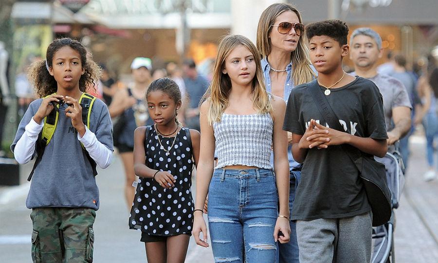 Хайди Клум с детьми: Лу, Генри, Хелен и Йоханом | Her Beauty