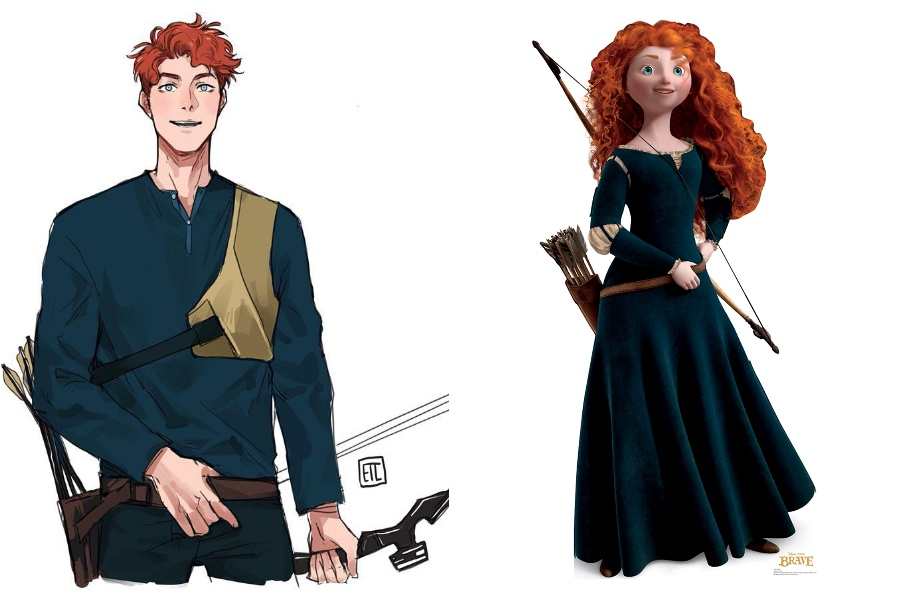 Merida | If Disney Princesses Were Boys | Her Beauty