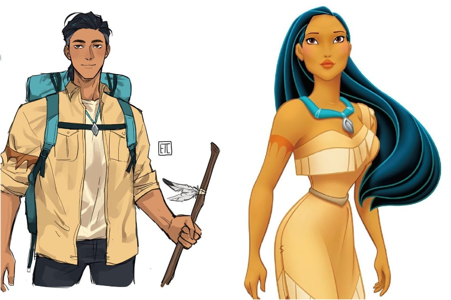 Pocahontas | If Disney Princesses Were Boys | Her Beauty