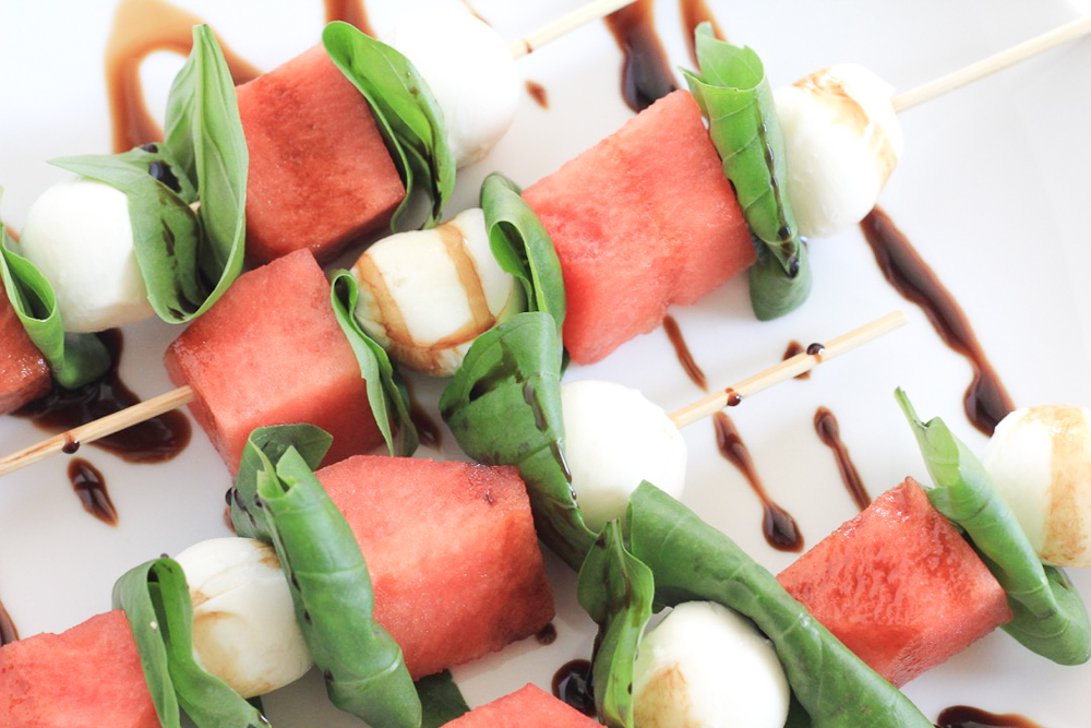 Watermelon Balsamic Skewer | HerBeauty
