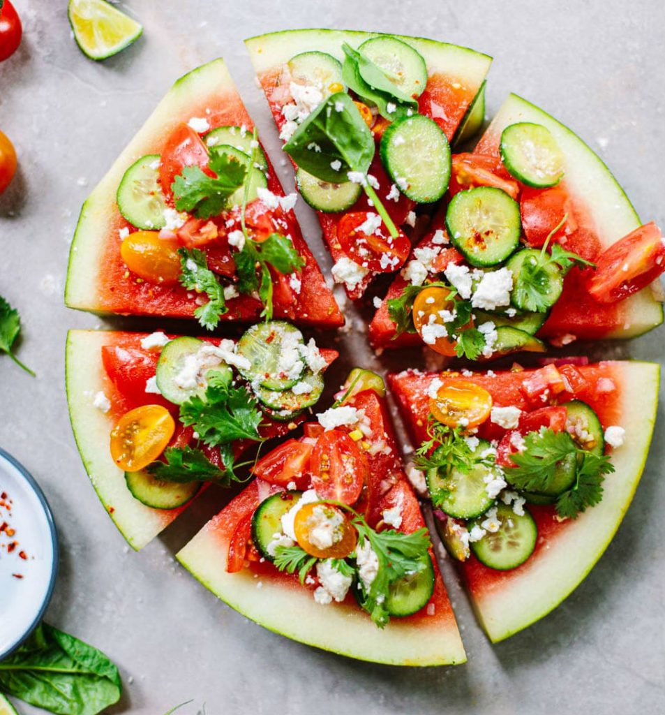 Watermelon, Cucumber and Feta Wedge Salad | HerBeauty