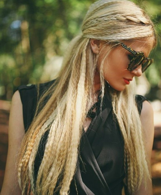 Сrimped hair with braids #2 | 6 Crimped Hair Ideas that Will Make You Feel Daring | Her Beauty