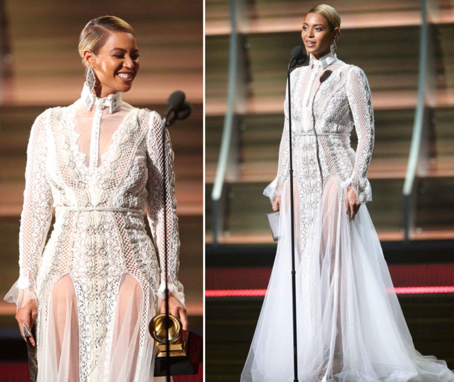 Beyoncé wore a wedding gown to the 2016 Grammy Awards | Beyonce's 9 Most Expensive Looks | Her Beauty