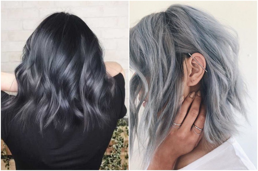 Blue-gray | How To Get Silver Hair: The Ultimate Guide to Dyeing Your Hair Her Beauty