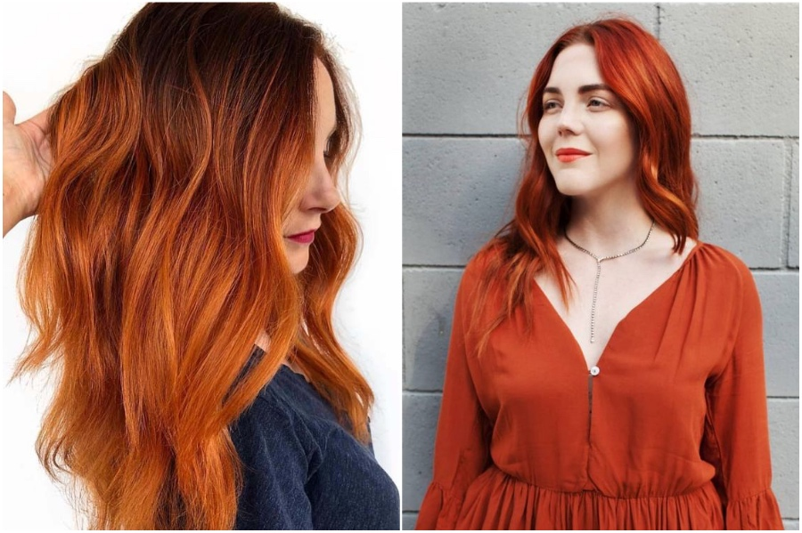 Burnt Orange | 15 Trendy Red Hair Ideas To Try | Her Beauty
