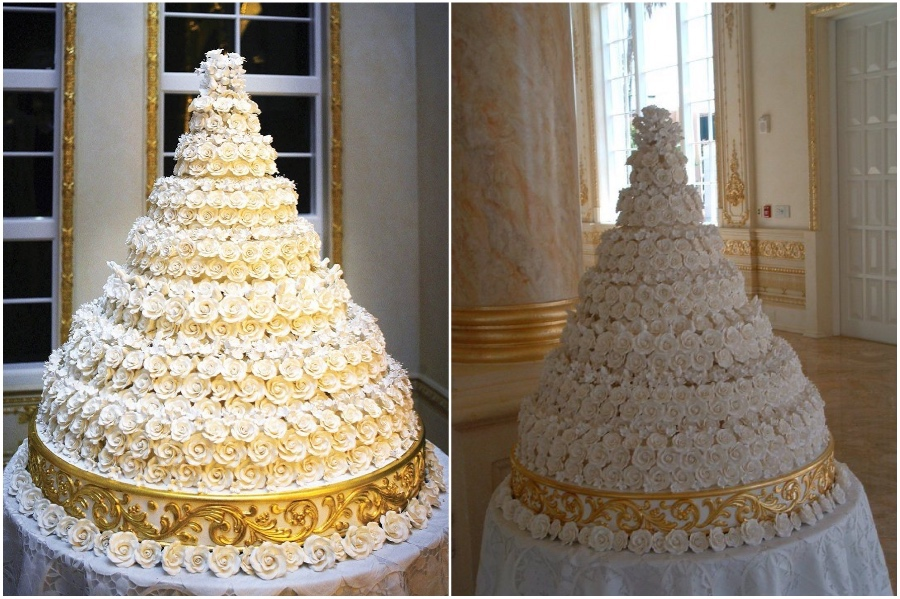 Donald Trump and Melania Wedding Cake – $50,000  | 8 of the World's Most Stunning (and Expensive) Wedding Cakes | Her Beauty