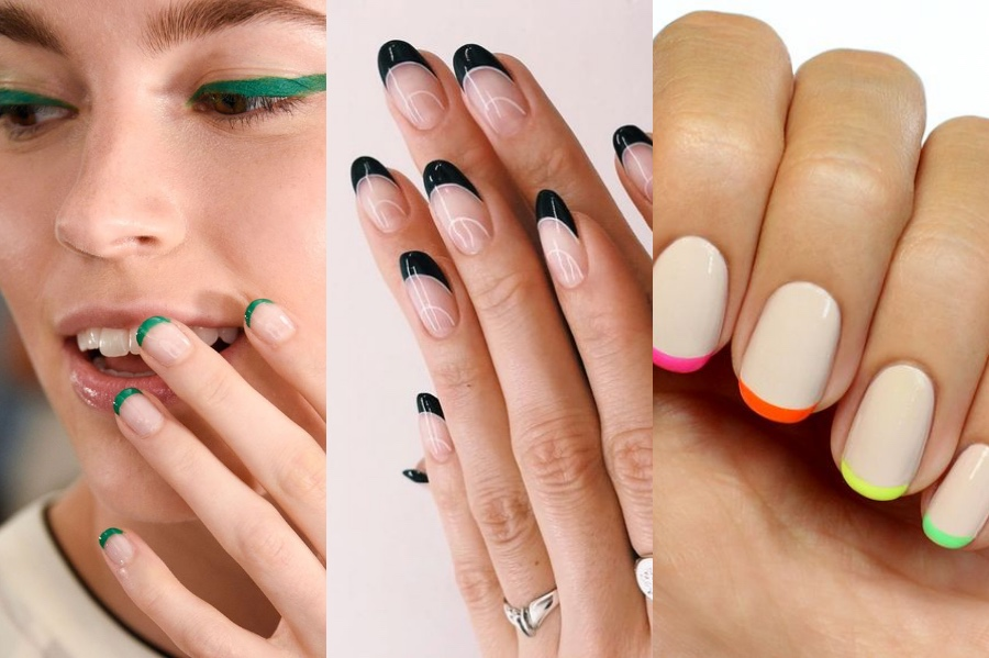 Colorful French Manicure   8 Fresh French Manicure Design Ideas   Her Beauty