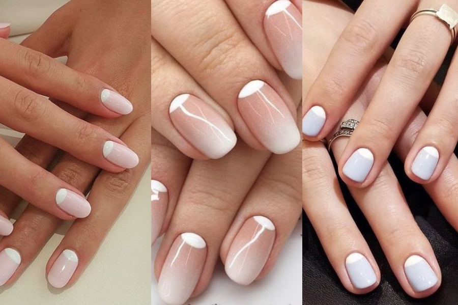 Reverse French Manicure   8 Fresh French Manicure Design Ideas   Her Beauty