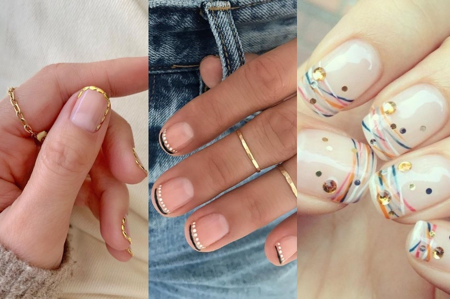 Dotted French Manicure   8 Fresh French Manicure Design Ideas   Her Beauty