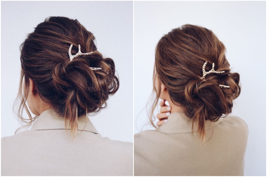 Gold Hair Accessories | 12 Pretty Long Hairstyles for Fall 2019 | Her Beauty