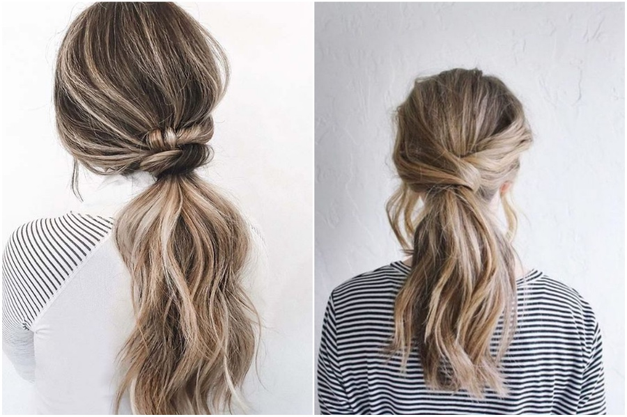 Knotted Low Ponytail | 12 Pretty Long Hairstyles for Fall 2019 | Her Beauty