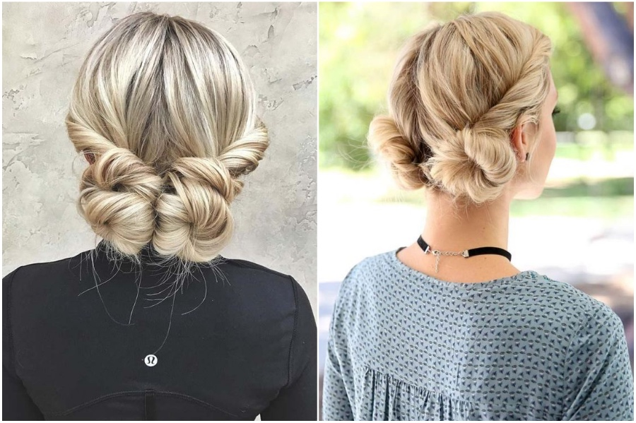 Low Buns | 12 Pretty Long Hairstyles for Fall 2019 | Her Beauty