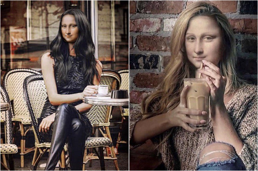 Mona Lisa drink her coffee black in a cool Parisian cafe | Mona Lisa Reimagined In The Modern World Excerpt | Her Beauty