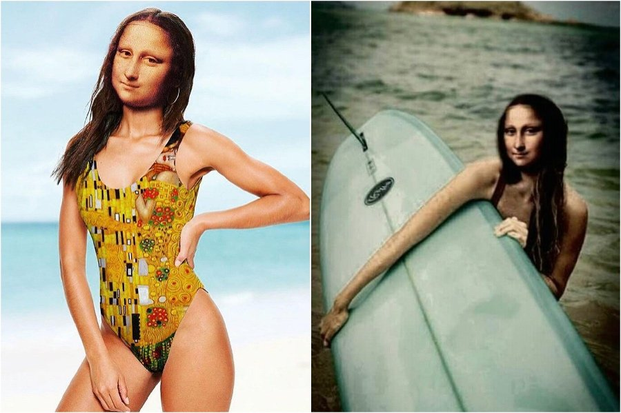 Mona Lisa at the beach. | Mona Lisa Reimagined In The Modern World Excerpt | Her Beauty