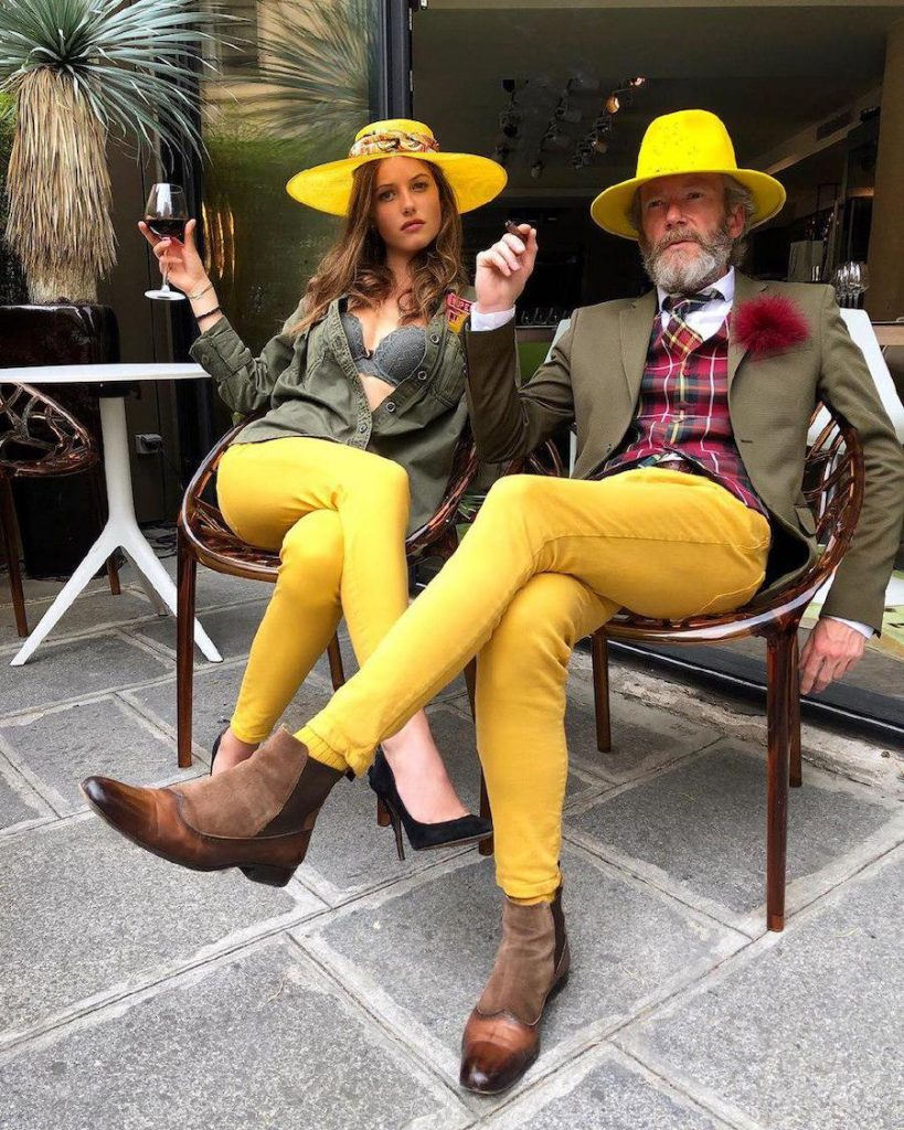 Yellow pants, yellow socks, yellow hats – and an olive green jacket with a tartan waistcoat on Pierrick Mathon | 12 Classiest Yet Fun OOTD You've Ever Seen From Pierrick Mathon | Her Beauty