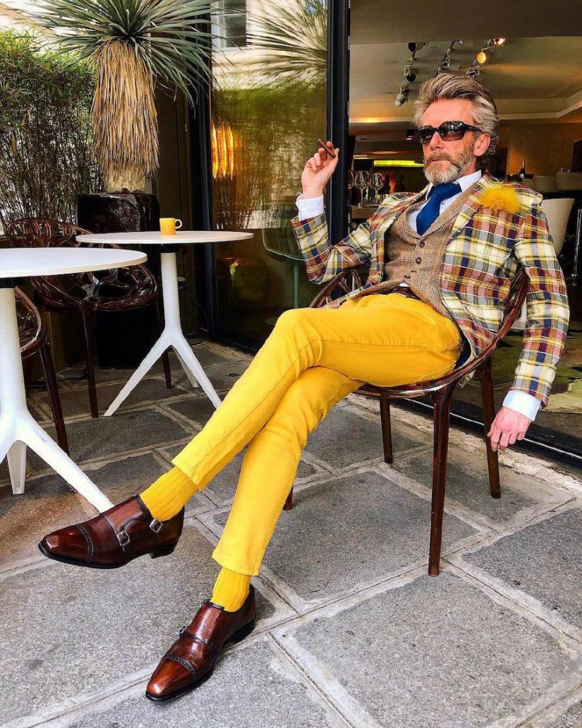 men wearing yellow | 12 Classiest Yet Fun OOTD You've Ever Seen From Pierrick Mathon | Her Beauty