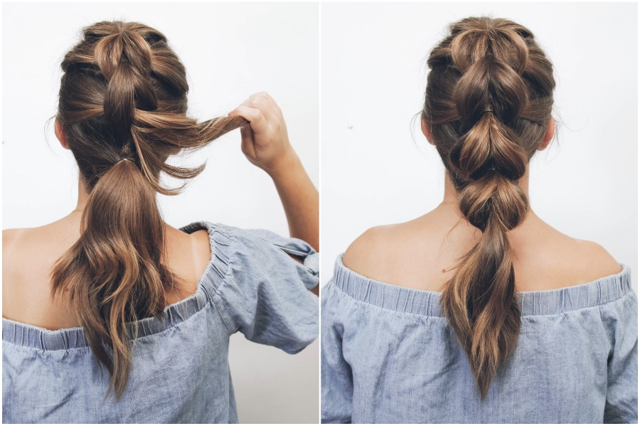 Pull Through Braid  | 12 Pretty Long Hairstyles for Fall 2019 | Her Beauty
