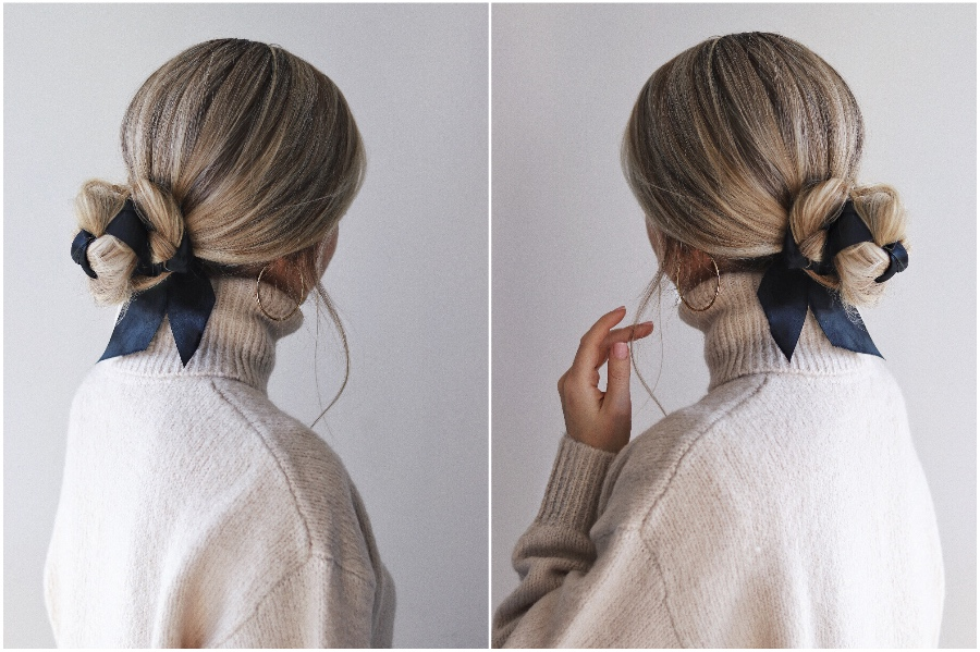 Beautiful Ribbon Buns | 12 Pretty Long Hairstyles for Fall 2019 | Her Beauty