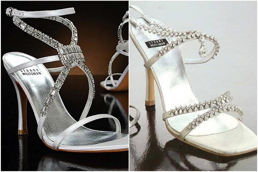 Stuart Weitzman Platinum Guild Stilettos – $1.09 Million | 9 Most Expensive Pairs Of Shoes Ever | Her Beauty
