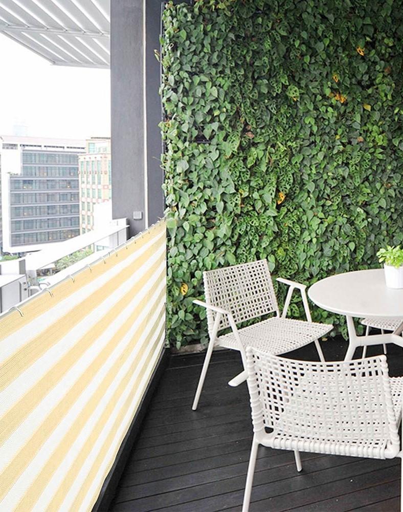 Privacy screen Balcony #2   10 Cozy Balcony Ideas   Her Beauty