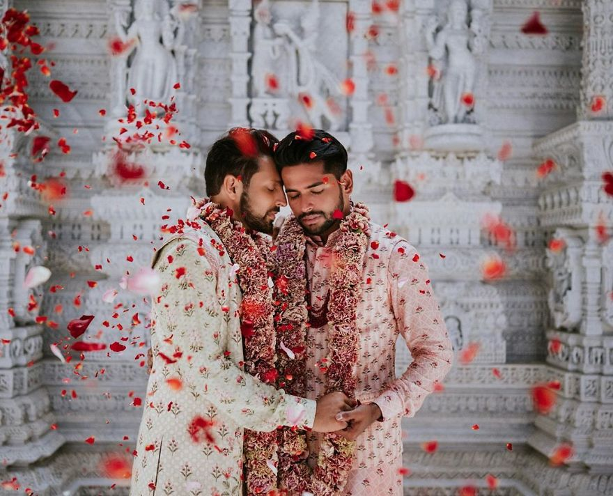 Gay Couple Immortalizes Gorgeous Traditional Indian Wedding #1 | Her Beauty