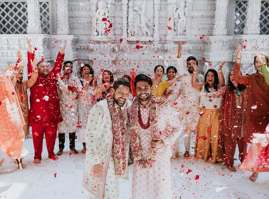 Gay Couple Immortalizes Gorgeous Traditional Indian Wedding #2   Her Beauty