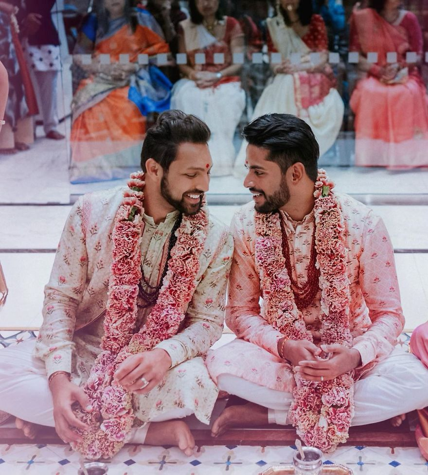 Gay Couple Immortalizes Gorgeous Traditional Indian Wedding #3 | Her Beauty